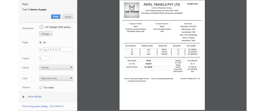 Best Transport Management Software - Create Bilty & Manifest